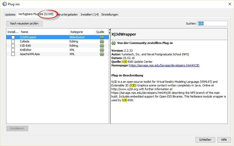 NetBeans X3D Edit