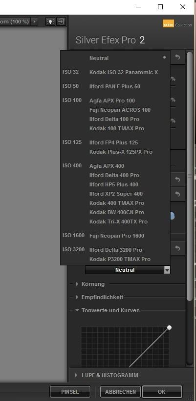 Silver Efex Pro ist eine Schwarz-Weiß-Fotosoftware, die analoge Filmtypen simulieren kann.