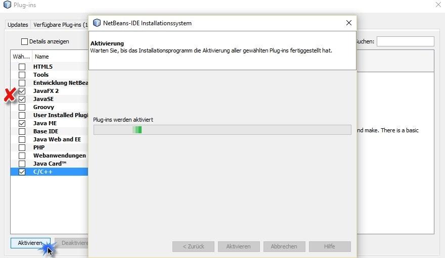 Java aktivieren NetBeans