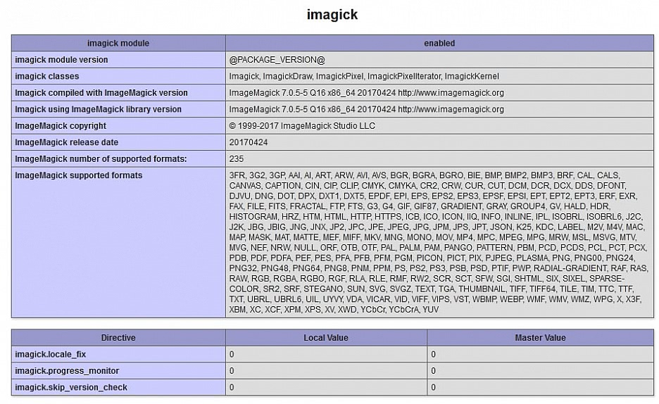 PHP 7 und Imagick