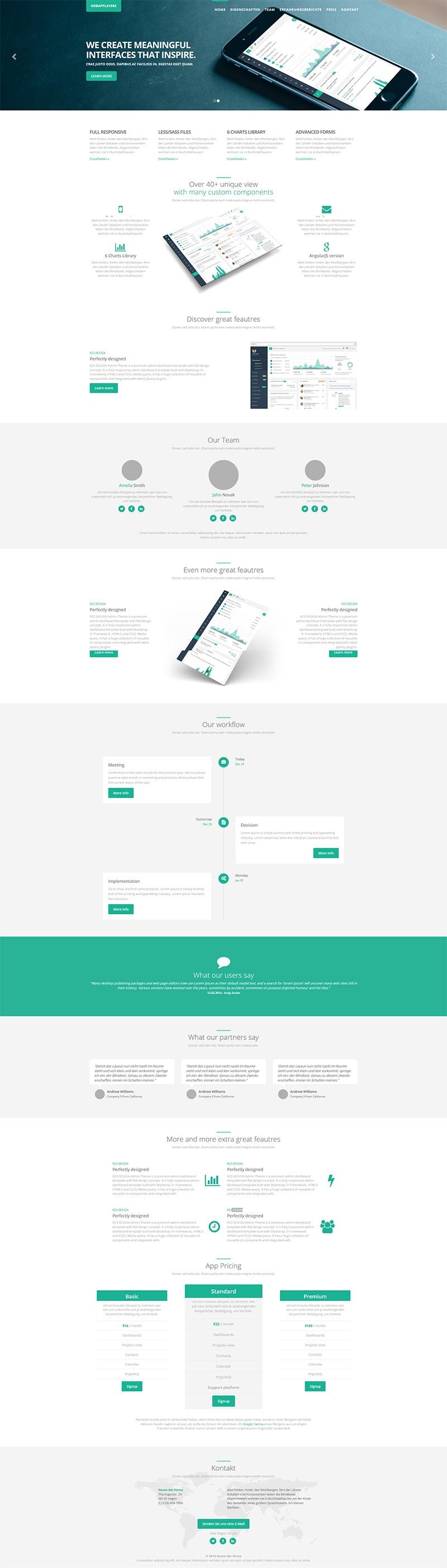r23 Design Landingpage