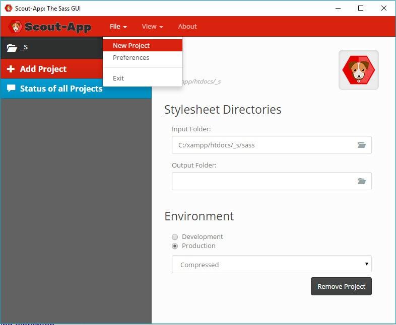 scout-app-projekt-importieren