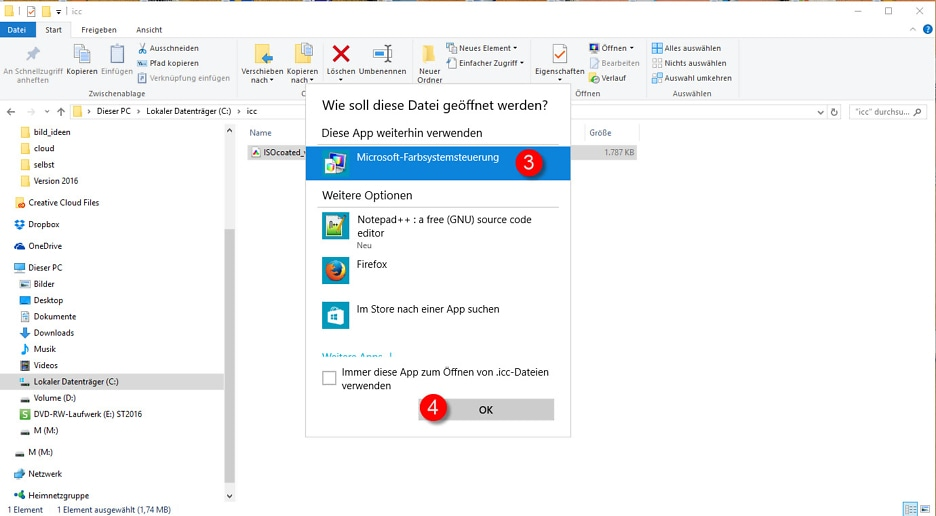 Die Windows-Farbverwaltung - Farbmanagement unter Windows