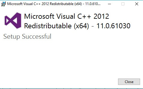 Visual C++ Redistributable für Visual Studio 2012 Update 4