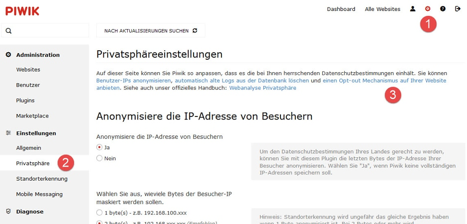 Opt-out Mechanismus auf Deiner Website