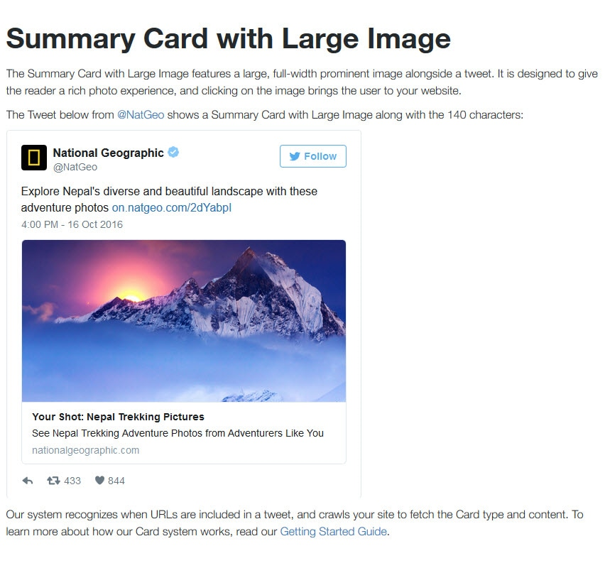 Summary Card with Large Image