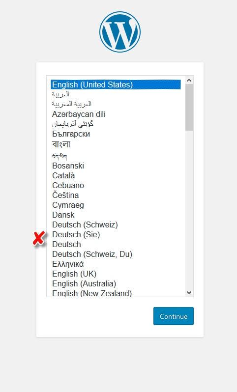 Sprachauswahl für WordPress