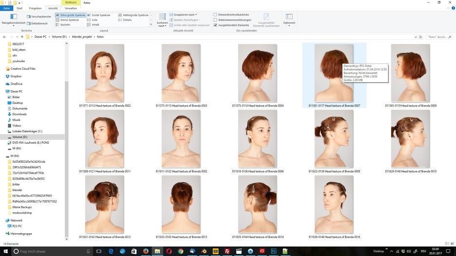 3D-Modellierung: Gesicht 2