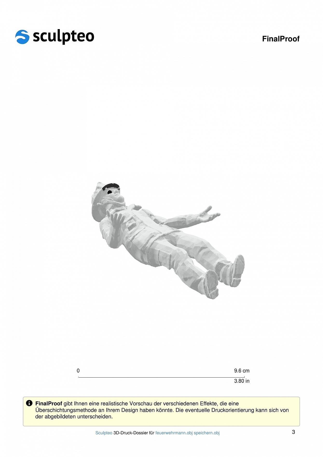 Feuerwehrmann: 3D-Druck 4