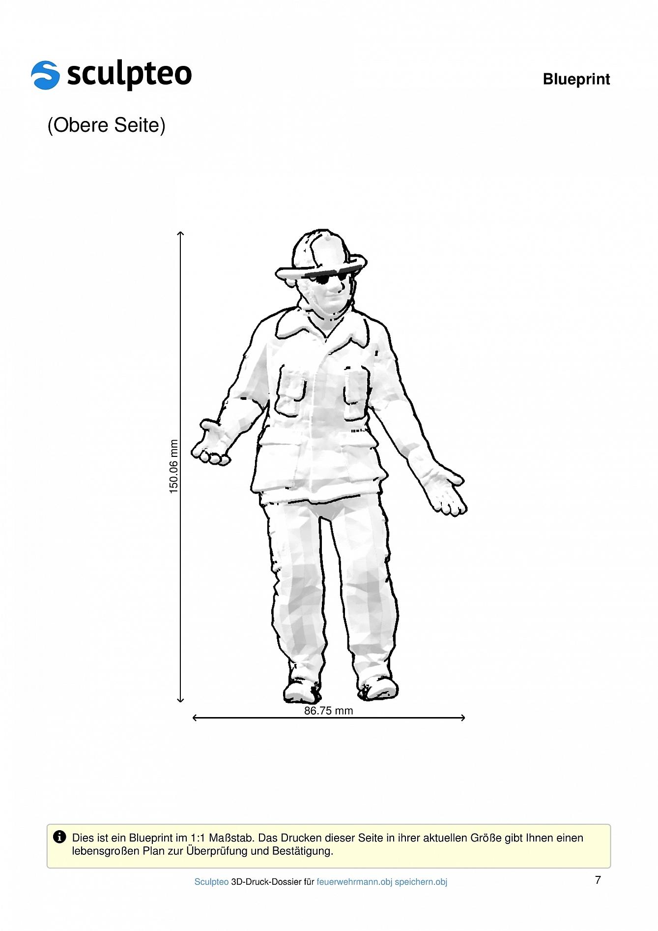 Feuerwehrmann: 3D-Druck 8