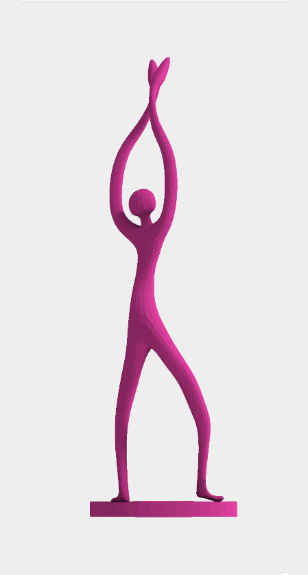 Skulptur: Dancing Figure 3D Print Model Violett