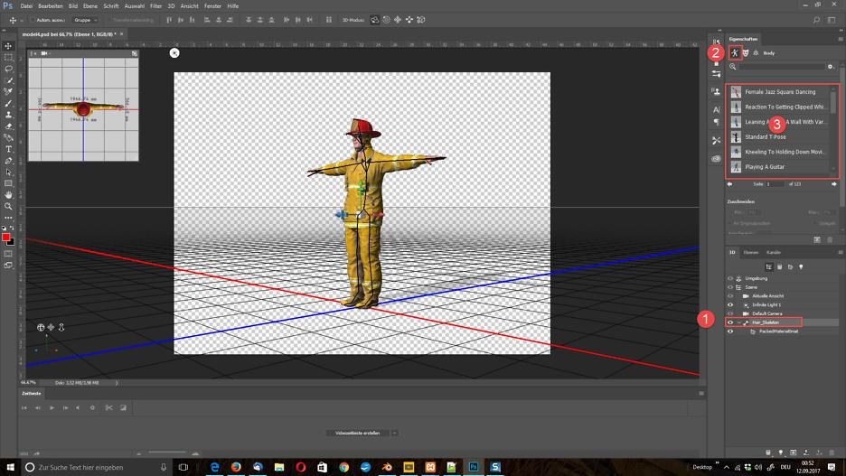 3D-Modelle zu Photoshop-Kompositionen hinzufügen