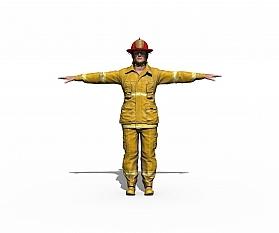 Animation: Feuerwehrmann