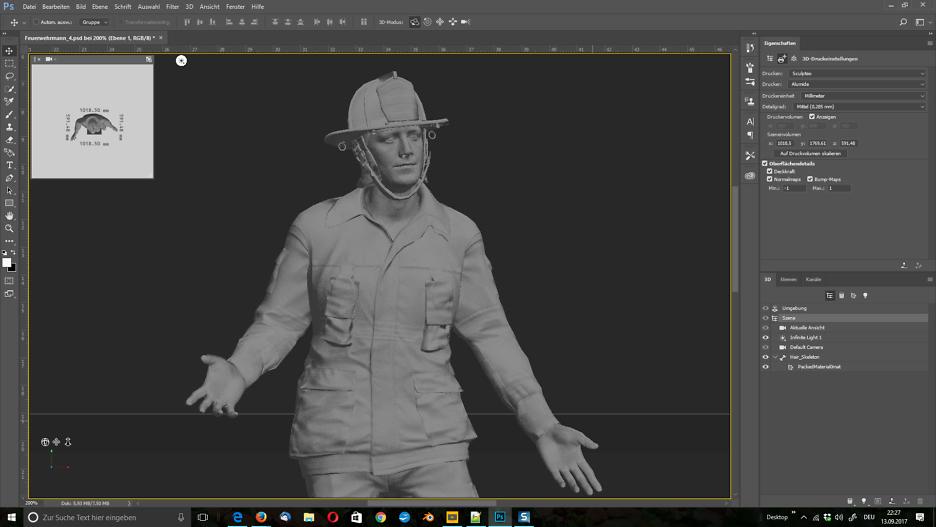 Bringe deine 3D-Figur mit Photoshop in die reale Welt.