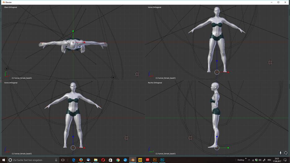 menschliche 3D-Modelle