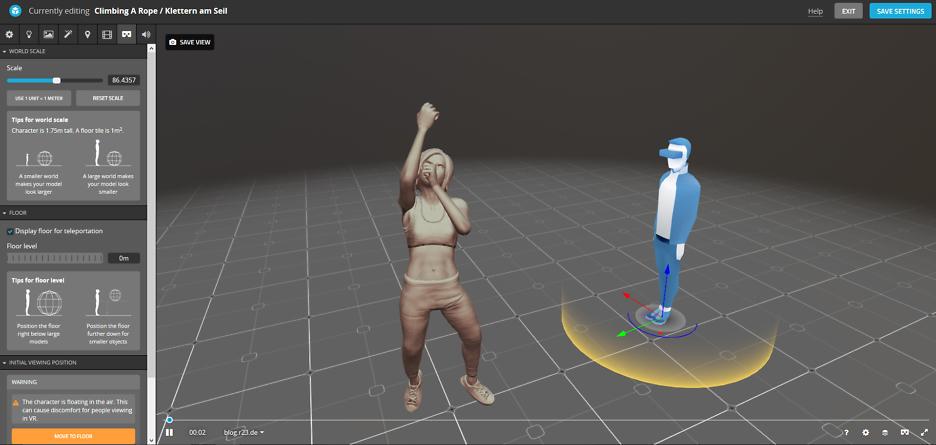 Für die Besitzer einer VR-Brille habe ich den Virtual Reality Raum auf Sketchfab gestaltet.