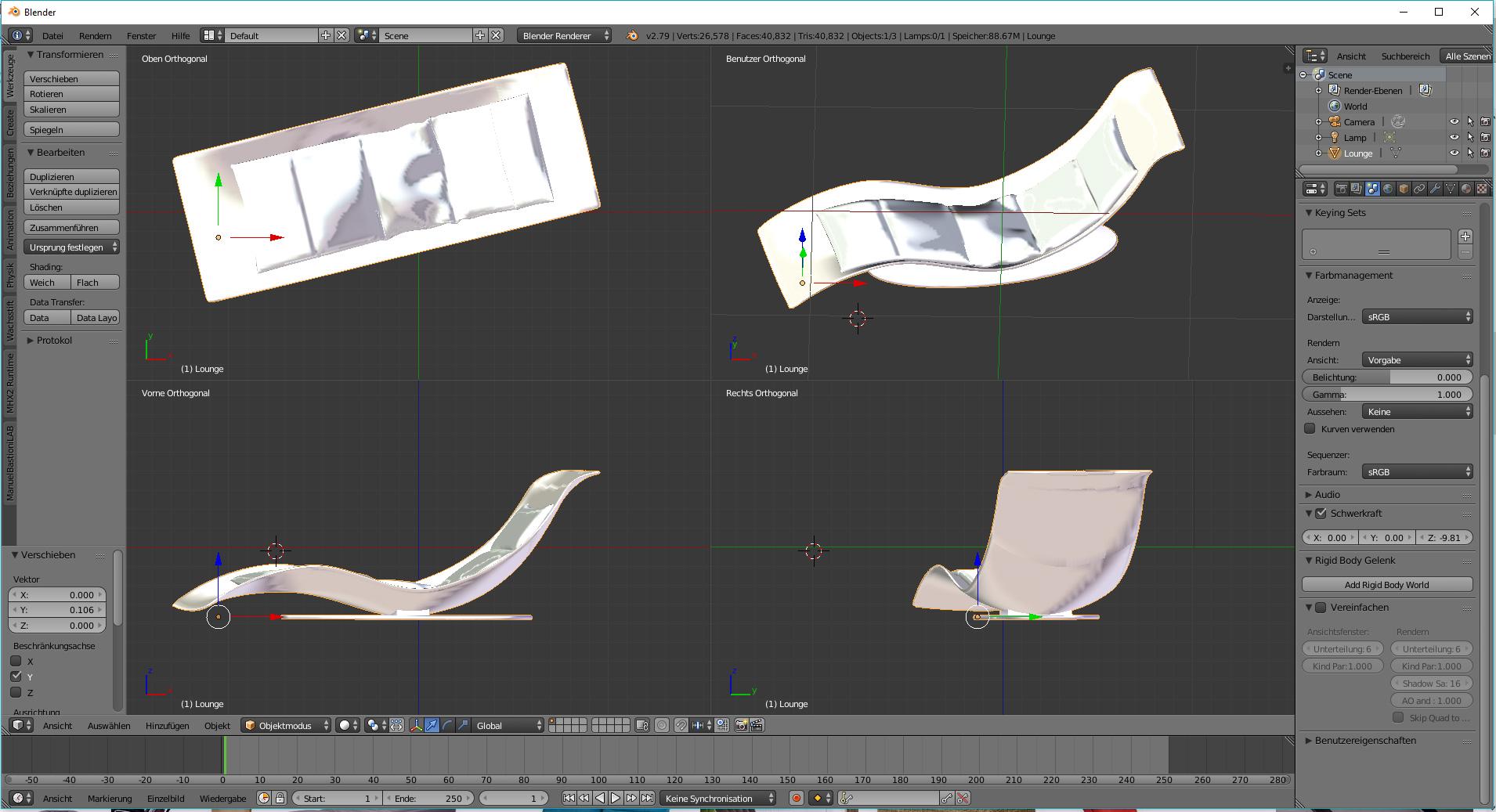 raum 23 lounge liege wohnzimmer 3d visualisierung r23. Black Bedroom Furniture Sets. Home Design Ideas