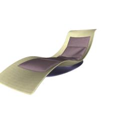 Raum 23: Lounge Liege Wohnzimmer –  3D-Visualisierung