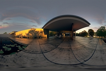360-Grad-Video: Pavillon Mies van der Rohe – 58 Sekunden