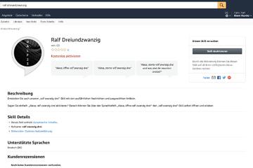 Your Alexa skill Ralf Dreiundzwanzig is now live!