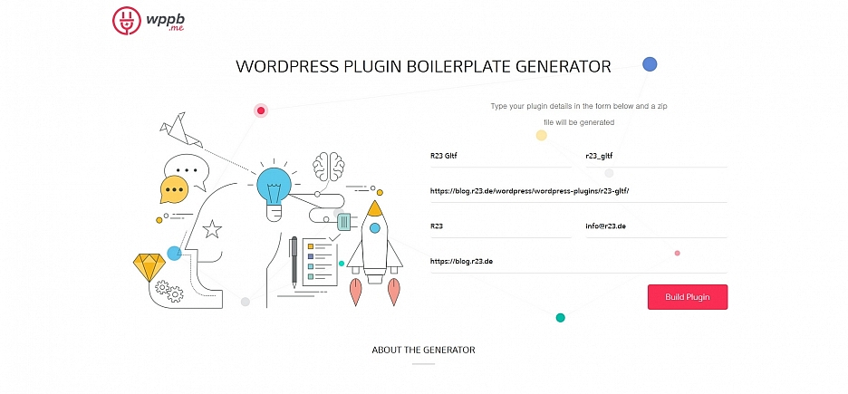 WordPress Plugin Boilerplate Generator