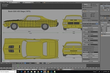 Tag 1: 3D-Modelling von einem Auto nach Blaupausen