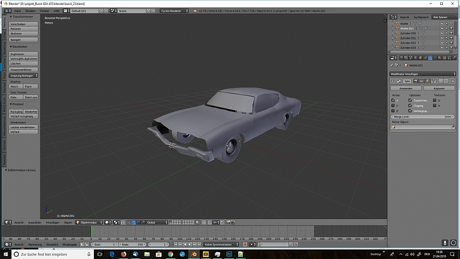 3D-Modellierung in Blender