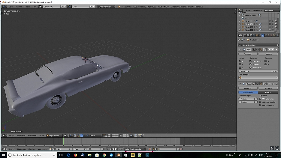 Tag 6: Blender Car Modeling