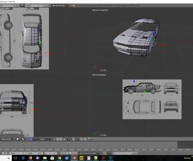 3D-Modelling von einem Auto nach Blaupausen – Tag 2