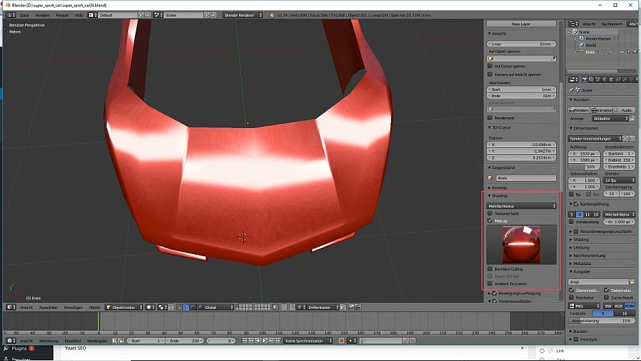 3D-Modelling Metalliclack