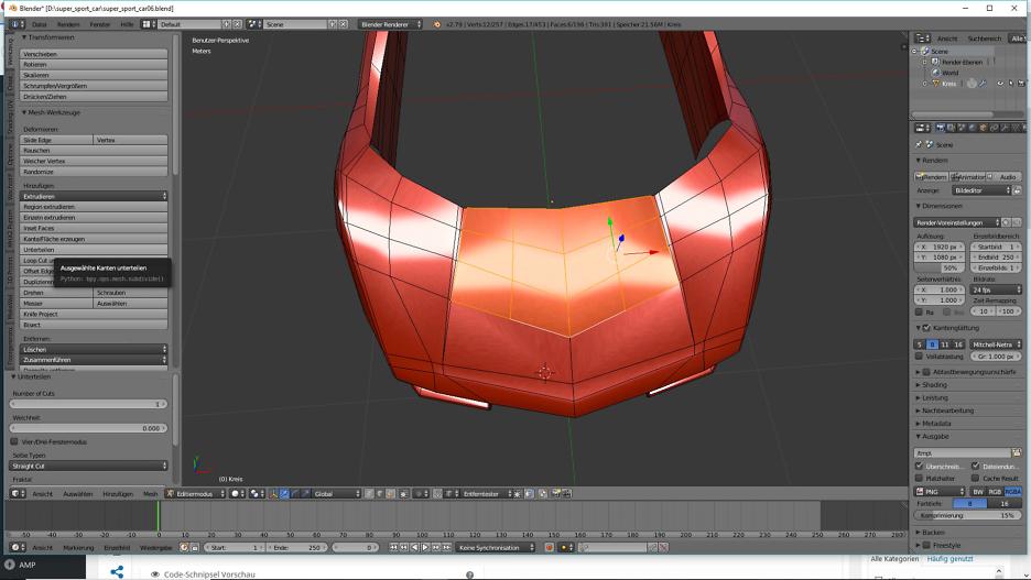 Tag 3: 3D-Modelling von einem Supersportwagen 1