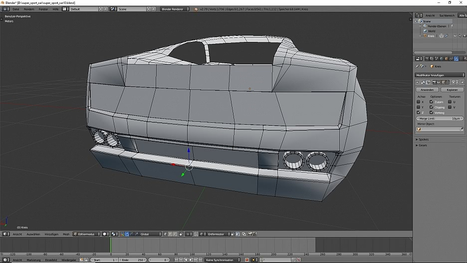 Model A Lamborghini Gallardo LP560-4 in Blender