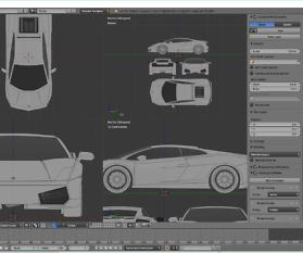 Tag 1: 3D-Modelling von einem Supersportwagen nach Blaupausen