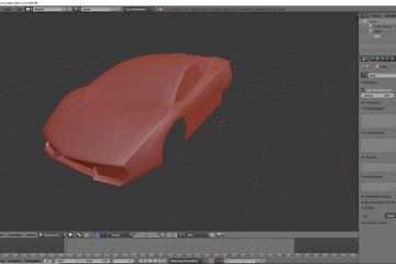 Tag 6: Blender 3D-Modelling von einem Supersportwagen