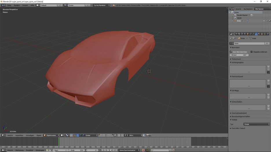 Blender 3D-Modelling