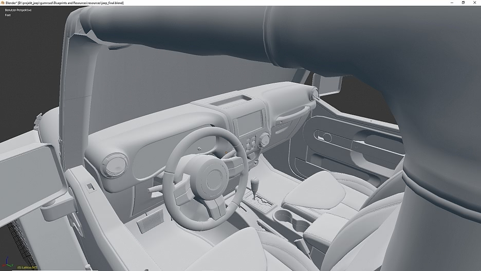 Auto-Modellierung : Jeep Wrangler