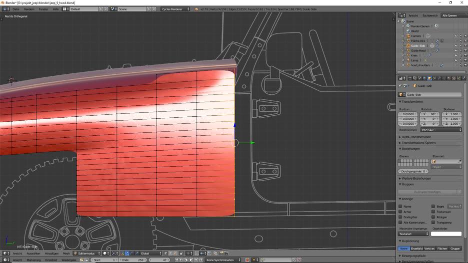 Tag 6: Blender Car Modeling : Geländewagen 5