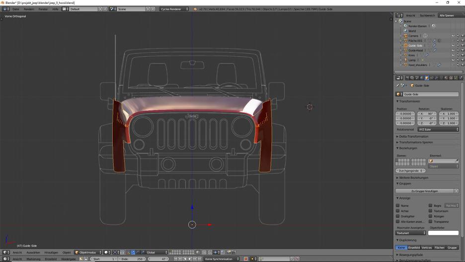 Tag 6: Blender Car Modeling : Geländewagen 8