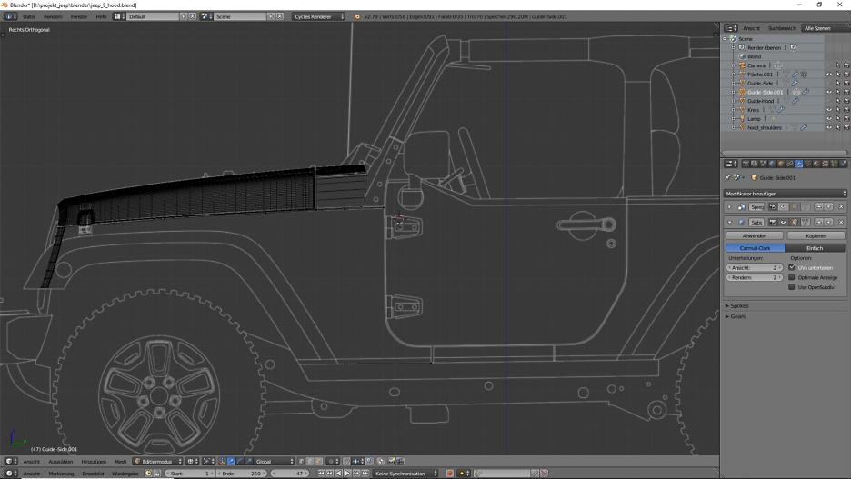 Tag 7: Blender Car Modeling : Geländewagen 1