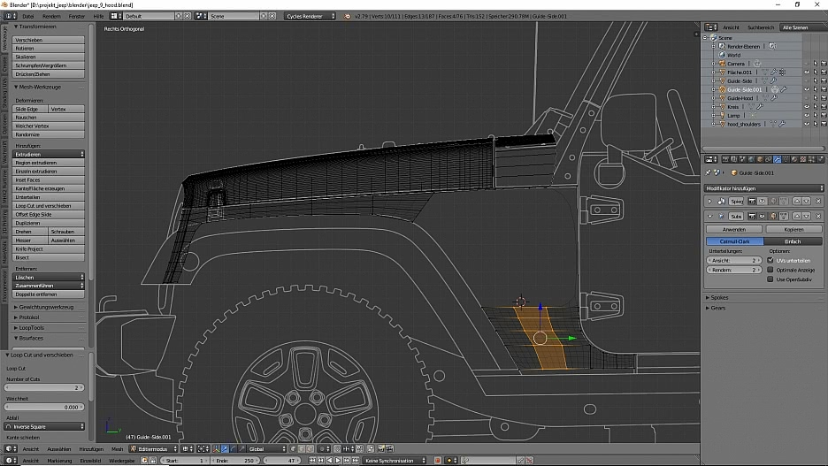 Tag 7: Blender Car Modeling : Geländewagen 3