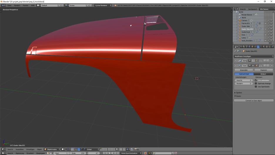 Blender Car Modeling : Geländewagen