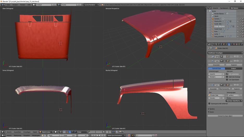 Tag 8: 3D-Modelling von einem Geländewagen 2