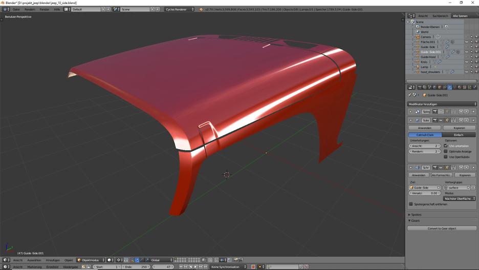 Tag 8: 3D-Modelling von einem Geländewagen 3