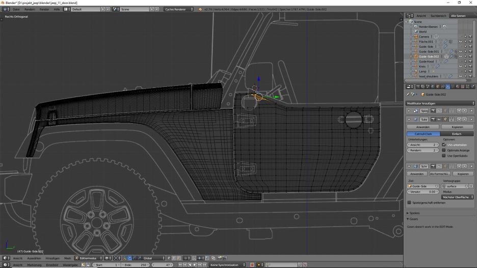 Tag 8: 3D-Modelling von einem Geländewagen 4