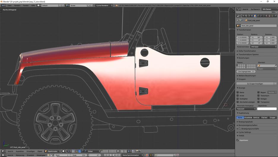 Tag 8: 3D-Modelling von einem Geländewagen 6