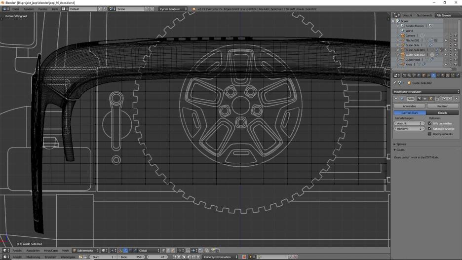 Tag 10: 3D-Modelling von einem Geländewagen 2