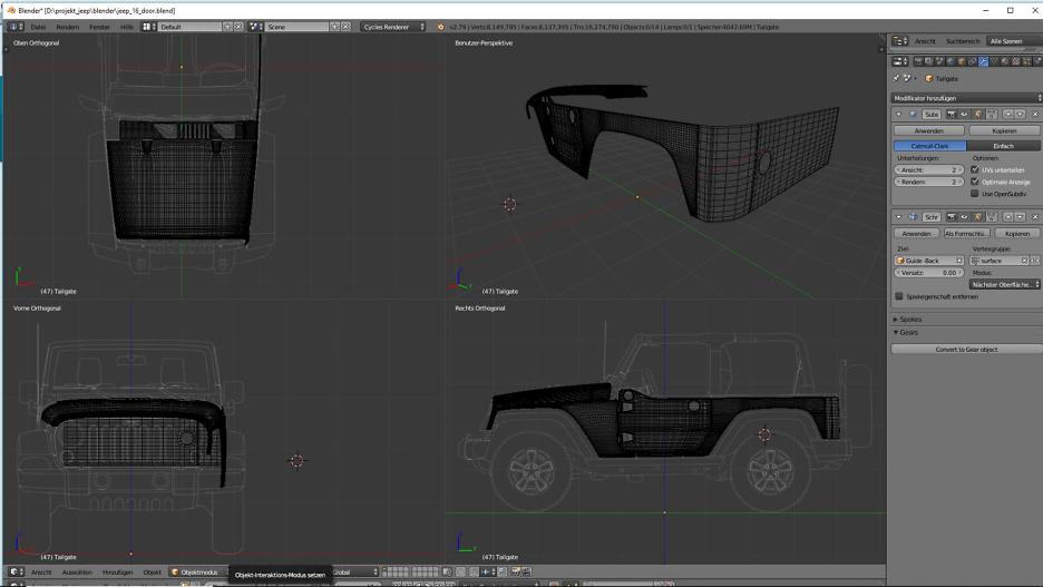 Tag 10: 3D-Modelling von einem Geländewagen 4
