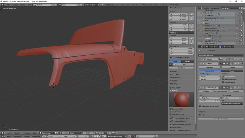 3D-Modelling, Car