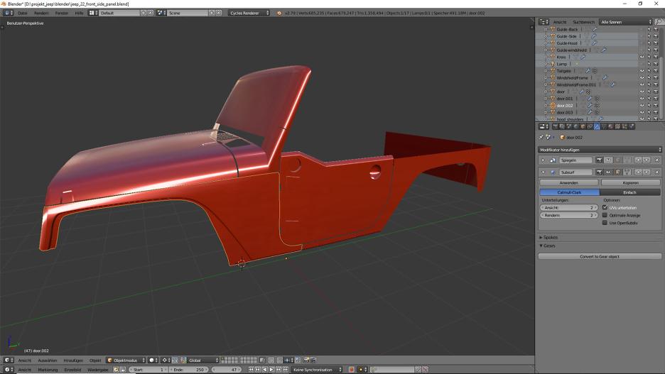 Tag 15: 3D-Modelling von einem Geländewagen 1