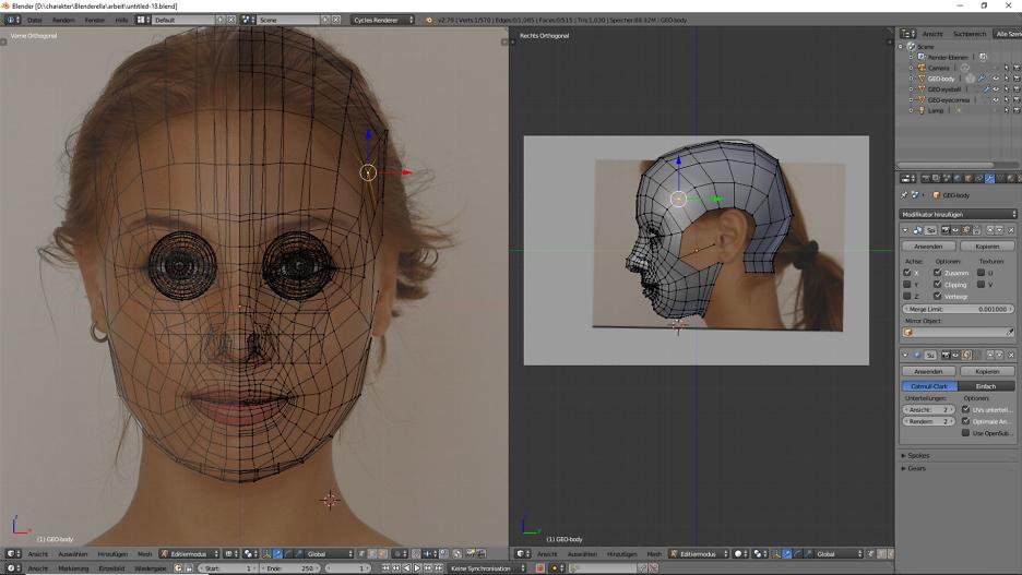 3D-Figuren, 3D-Modelling, Charakterdesign